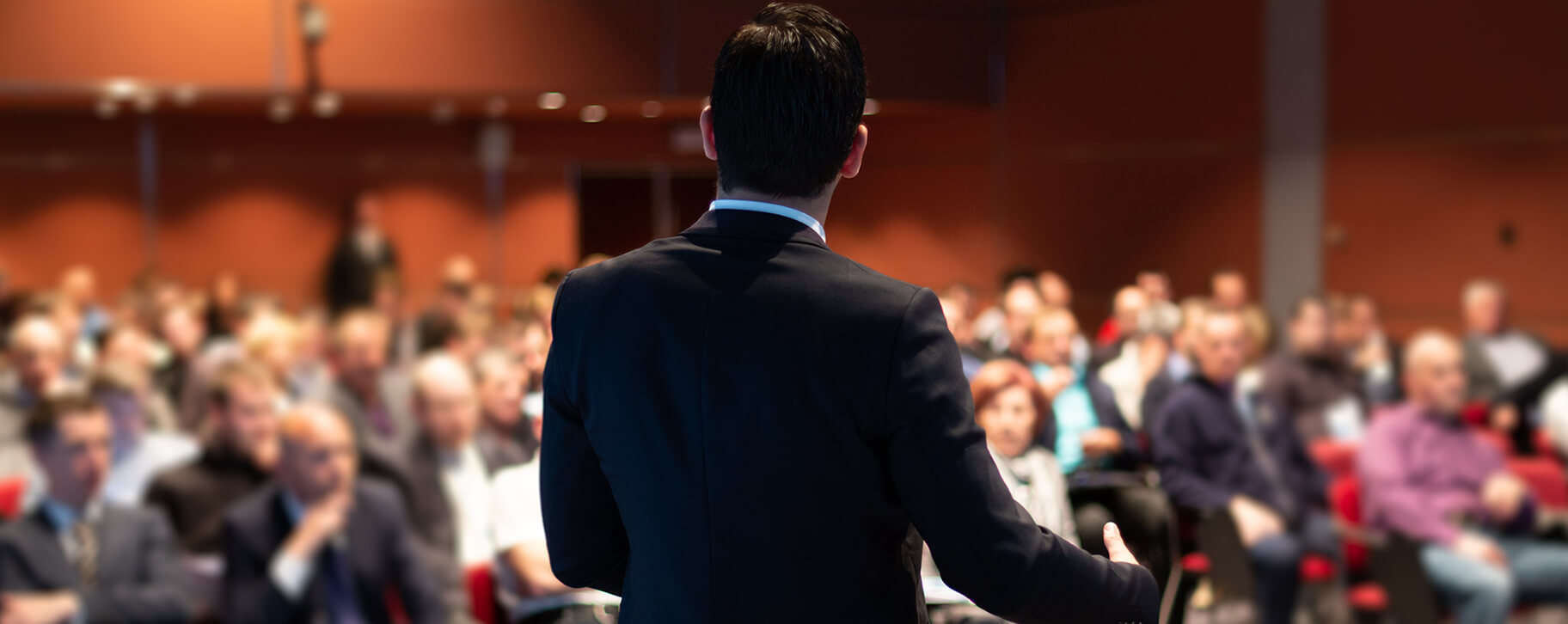 Man speaking in the conference hall